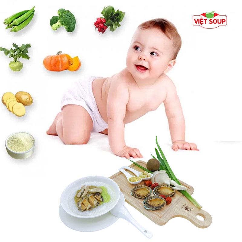 Trẻ mấy tuổi ăn được cháo bào ngư & cách chế biến
